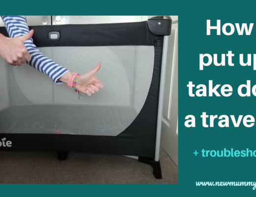 How to put up a travel cot