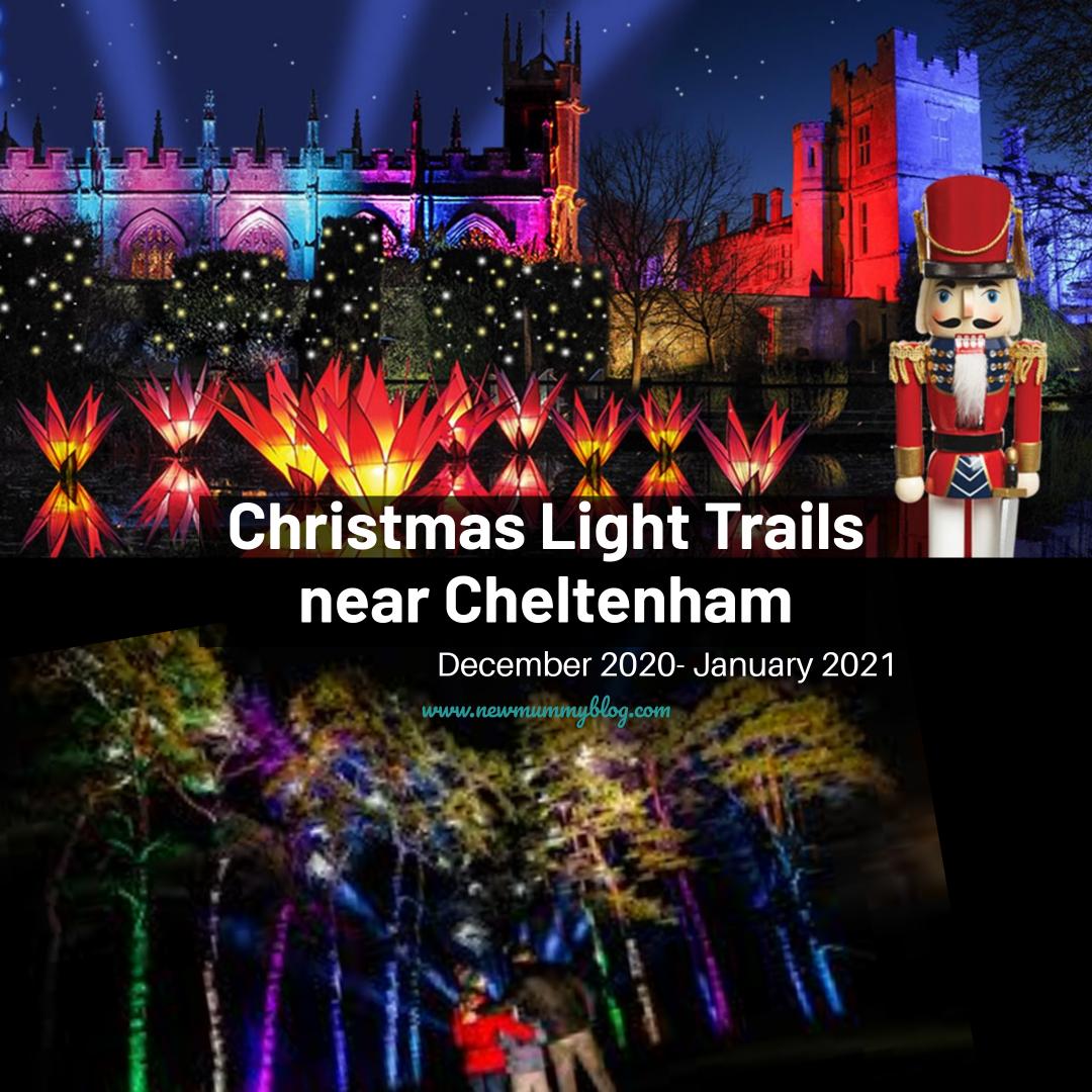 Christmas light trail near Cheltenham, Gloucestershire 2020